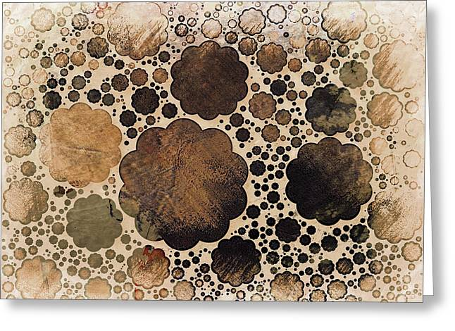 Faded Yesterday's Grunge Sepia Decorative Abstract Greeting Card
