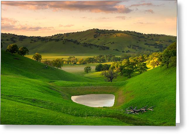 Fading Light At Round Valley Greeting Card by Marc Crumpler