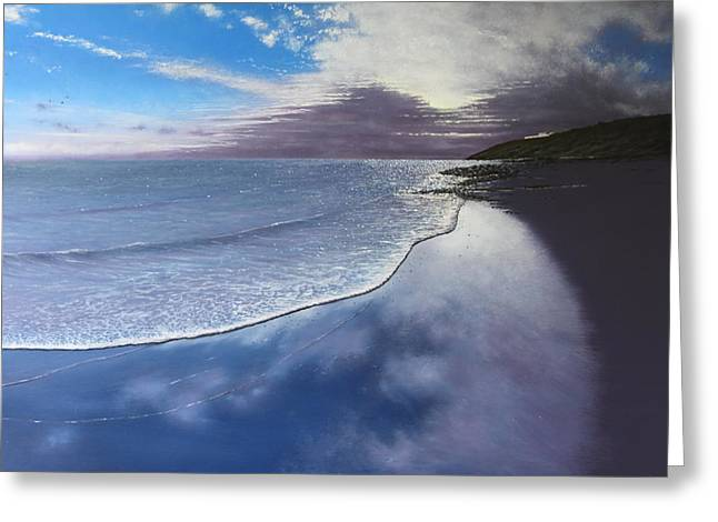 Fading Light Greeting Card by Paul Newcastle