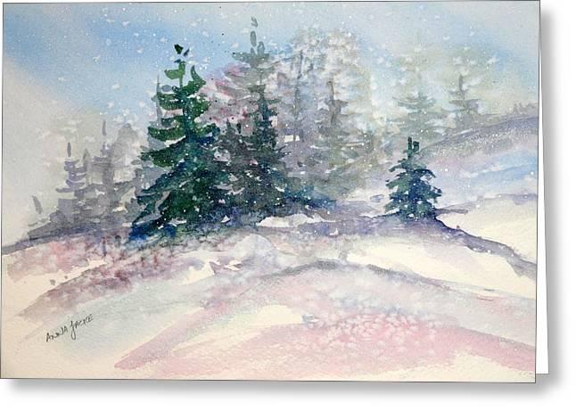 Fading Winter Light Greeting Card