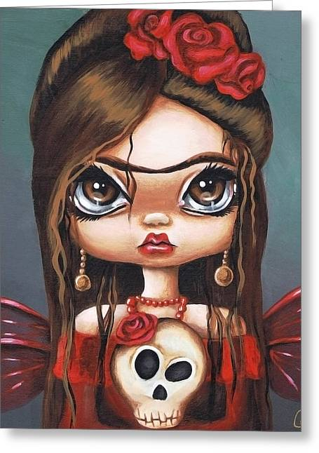 Emo Greeting Cards - Fae Frida Greeting Card by Sour Taffy