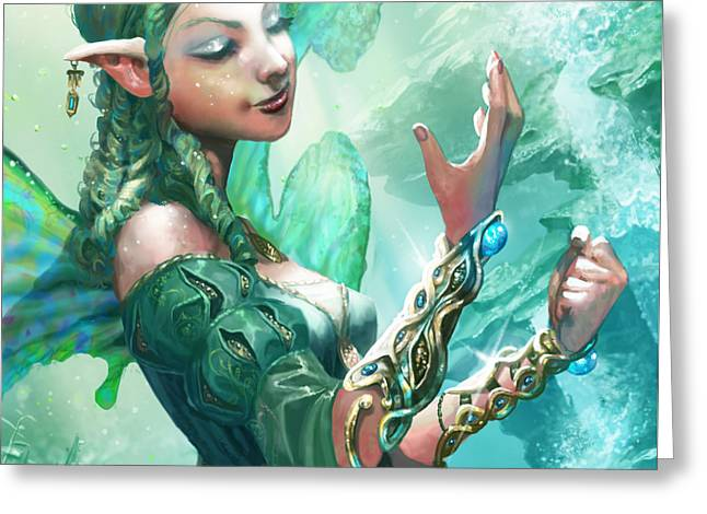 Faerie Cuffs Greeting Card by Ryan Barger
