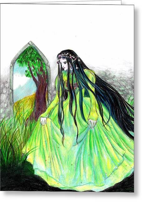 Faerie Queen Greeting Card by Rebecca Tripp