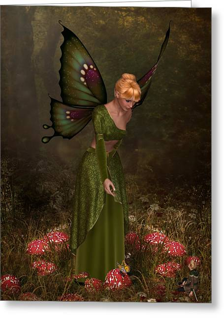 Faerie Ring Greeting Card by David Griffith