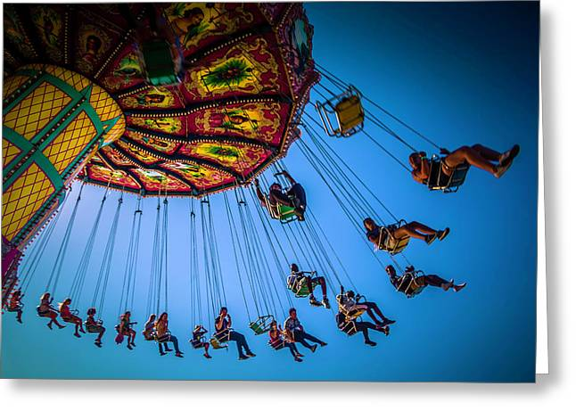 Fair Chair Swinger Greeting Card by Garry Gay
