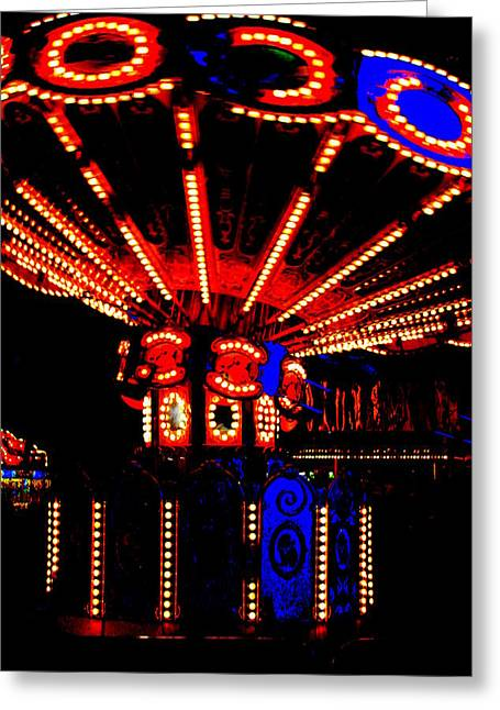 Fair Lights Greeting Card by Dana  Oliver