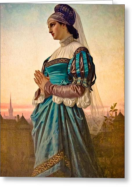 Fair Maiden Greeting Card by Colleen Kammerer