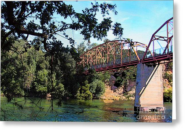 Fair Oaks Bridge Greeting Card by Anthony Forster