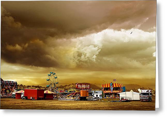 Freak Show Greeting Cards - Fair Weather Greeting Card by Mal Bray