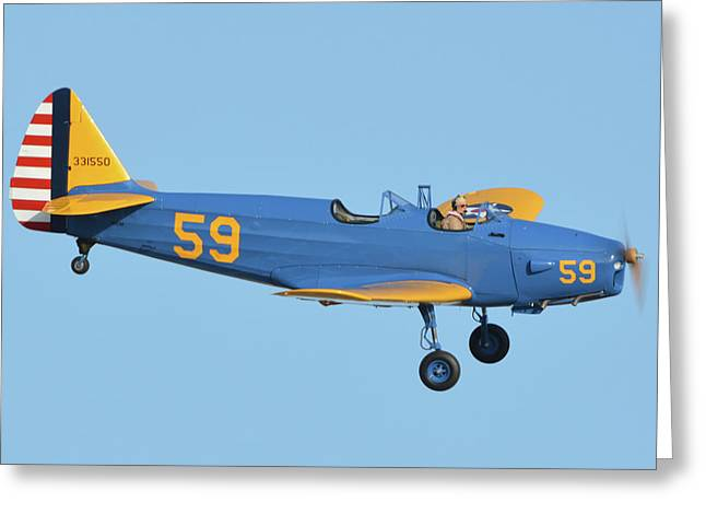 Fairchild Pt-19a N11cm Chino California April 29 2016 Greeting Card by Brian Lockett