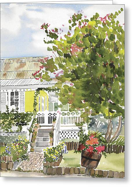 Fairfield Cottage Greeting Card by Anji Worton