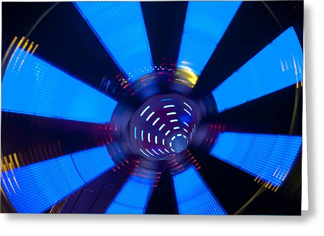 Fairground Abstract Vi Greeting Card by Helen Northcott