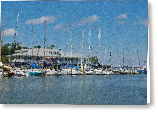 Fairhope Yacht Club Impression Greeting Card