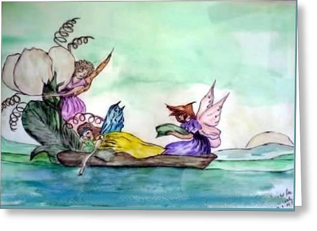 Fairies At Sea Greeting Card