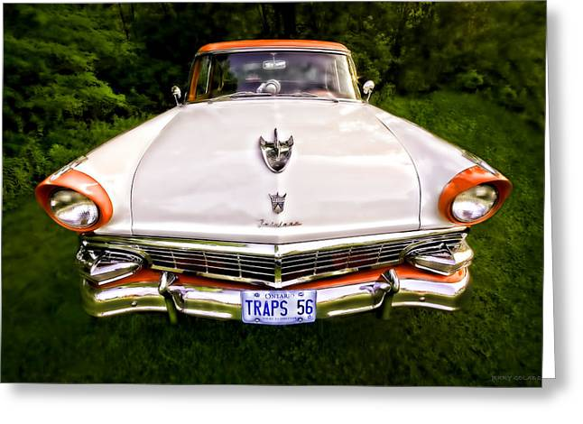 Fairlane Greeting Card by Jerry Golab