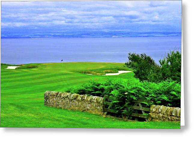 Fairmont St. Andrews - Hole 15 - Kittocks Course Greeting Card by Scott Carda