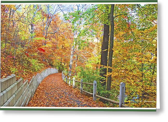 Fairmount Park Path In Autumn Philadelphia Pennsylvania Greeting Card