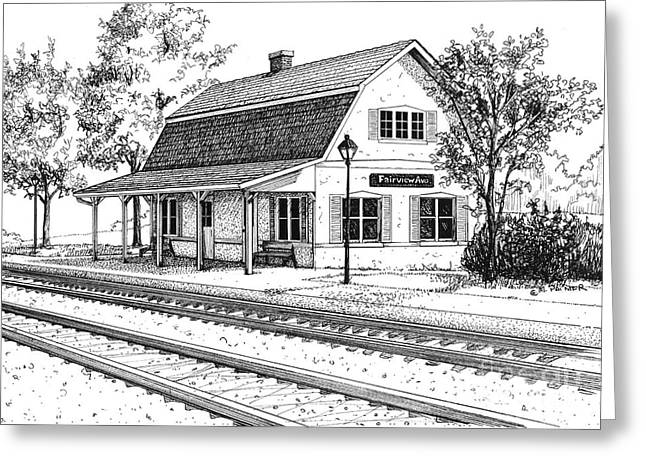 Fairview Ave Train Station Greeting Card