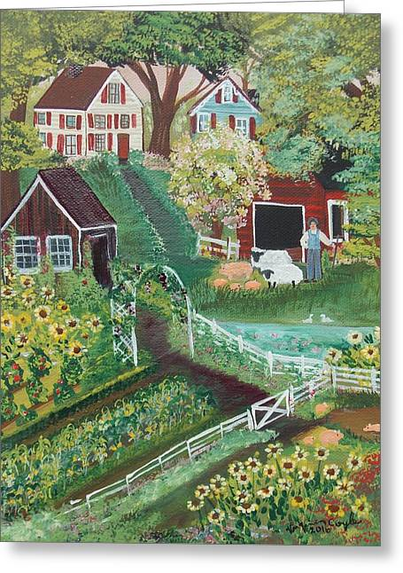 Fairview Farm Greeting Card by Virginia Coyle
