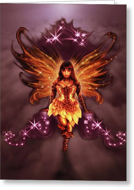 Fairy Angel Greeting Card by Rick Ritchie