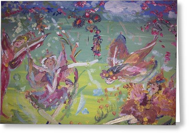 Greeting Card featuring the painting Fairy Ballet by Judith Desrosiers