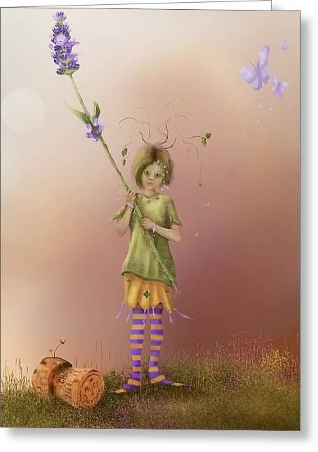 Fairy Bella Lavender Greeting Card