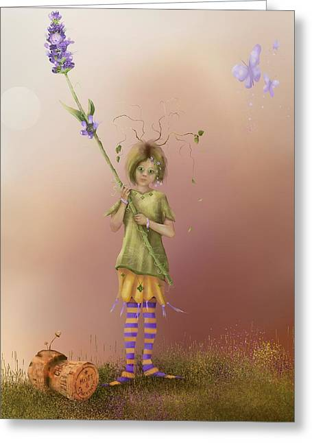 Fairy Bella Lavender Greeting Card