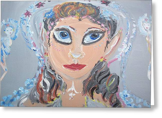 Greeting Card featuring the painting Fairy Bride by Judith Desrosiers