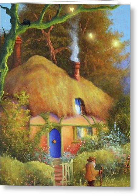 Fairy Cottage Greeting Card