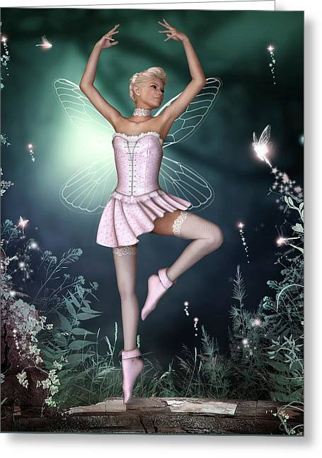 Fairy Dance Greeting Card by David Griffith