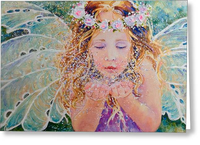 Fairy Dust Greeting Card by Nicole Gelinas