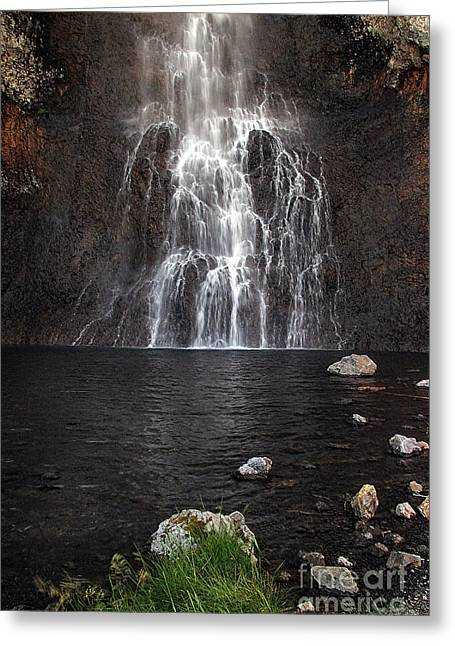 Greeting Card featuring the photograph Fairy Falls - Yellowstone National Park by Craig J Satterlee