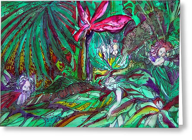 Fairy Forest Greeting Card by Mindy Newman