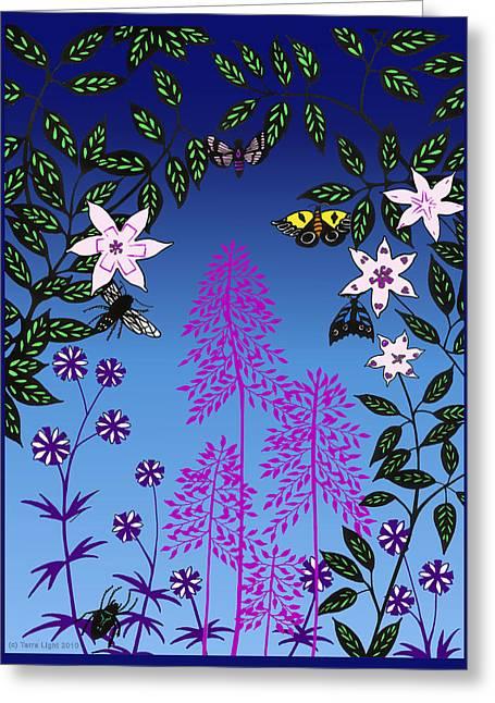 Fairy Garden By Tarra Light Greeting Card by Robert Bissett