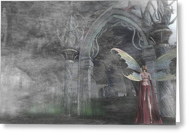 Fairy Gate Greeting Card by Brainwave Pictures