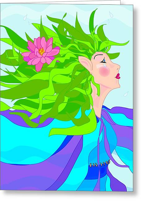 Fairy Girl Greeting Card by Susan Nelson