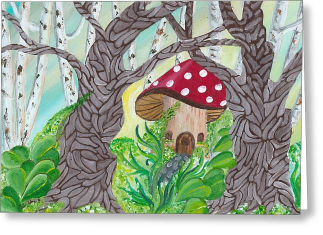 Fairy Home Greeting Card by Gail Peltomaa