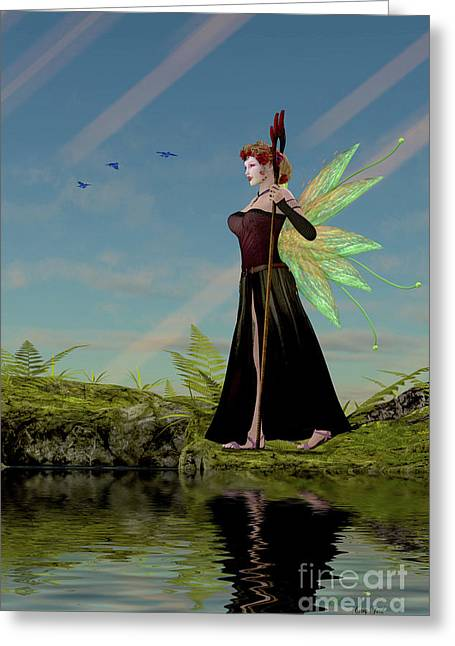 Fairy Lillith By Pond Greeting Card by Corey Ford