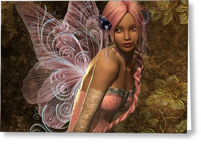 Fairy Lite  Greeting Card by Ali Oppy