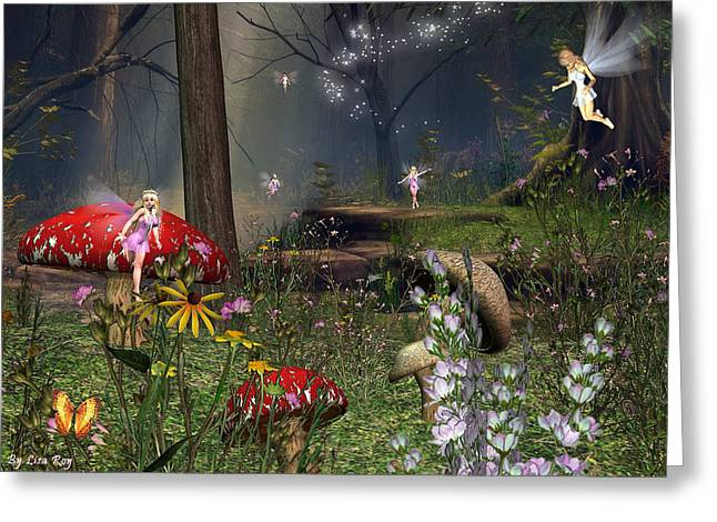 Fairy Night Greeting Card by Lisa Roy