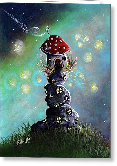 Fairy Paintings - Home For The Night Greeting Card