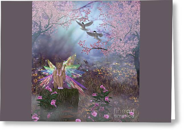 Fairy Patricia Greeting Card by Corey Ford