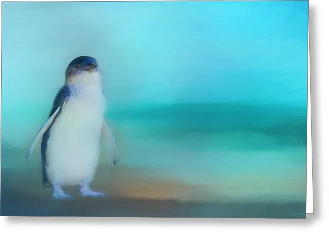 Fairy Penguin Western Australia Greeting Card by Michelle Wrighton
