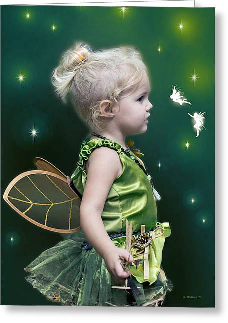 Fairy Princess Greeting Card by Brian Wallace