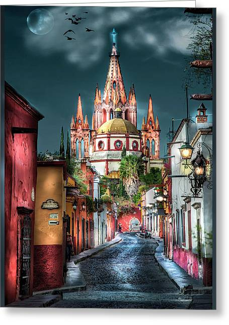 Fairy Tale Street Greeting Card