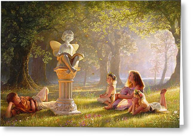 Kids Books Paintings Greeting Cards - Fairy Tales  Greeting Card by Greg Olsen