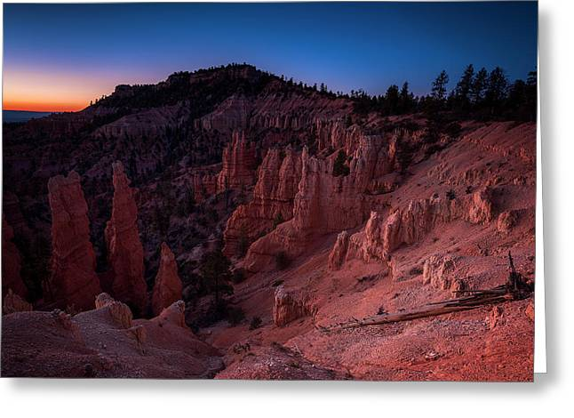Greeting Card featuring the photograph Fairyland Canyon by Edgars Erglis