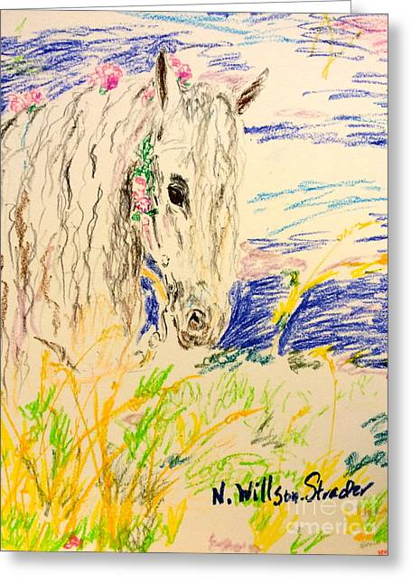 Fairytale Horse Greeting Card by N Willson-Strader