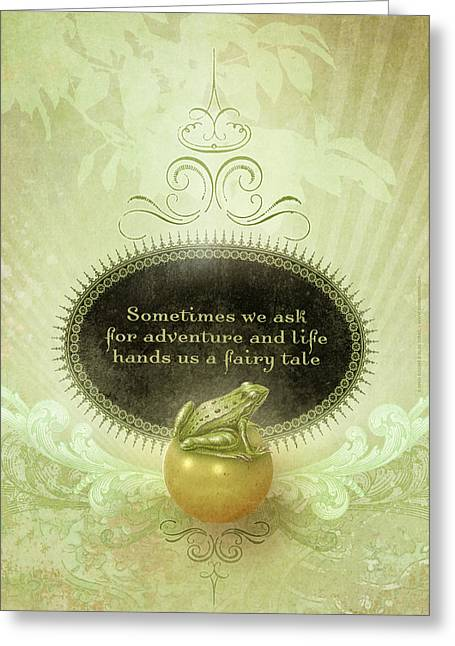Faerie Tale Greeting Cards - Fairytale Greeting Card by Silas Toball