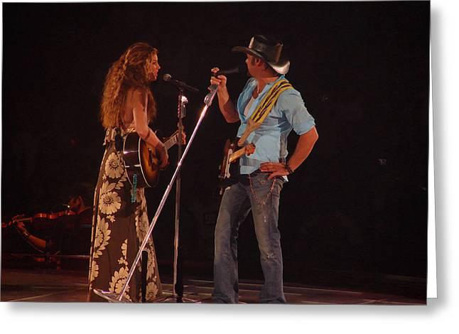 Faith And Tim Sing Greeting Card by Bobby Miranda